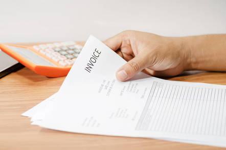 A billing invoice