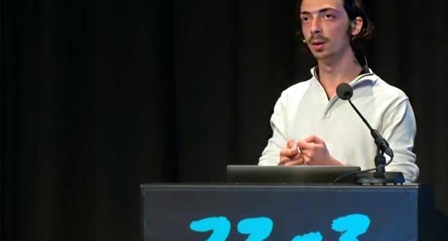 Netanel Rubin at Chaos Communications Congress 2016.