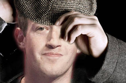 Mark zuckerberg in a buena vista style flat cap. Photo: shutterstock mashup