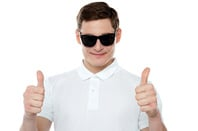 Double thumbs up photo via Shutterstock