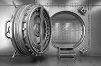 DOor to a bank vault. Photo by Shutterstock