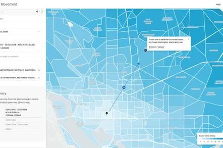 Uber Movement screen interface