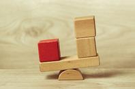 Blocks balanced photo via Shutterstock
