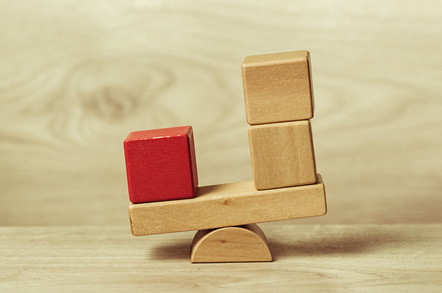 Blocks balanced photo via Shutterstock