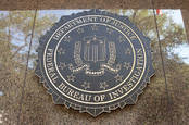 The FBI seal on a building