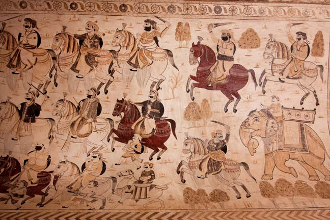 India battle tapestry photo via Shutterstock