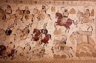 India battle tapestry photo via Shutterstock