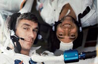 Eugene Cernan and Ronald Evans