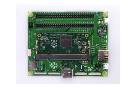 Raspberry Pi Compute Module 3 in the Compute Module IO Board V3
