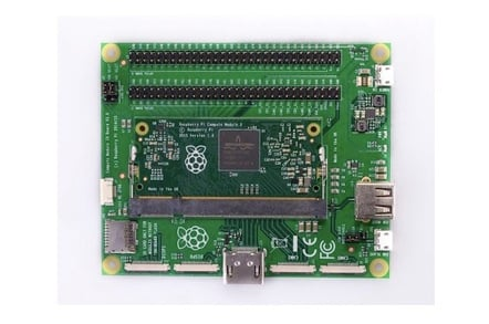 Raspberry Pi Compute Module 3 in the Compute Module IO Board V3