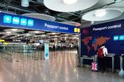 UK passport control photo via Shutterstock