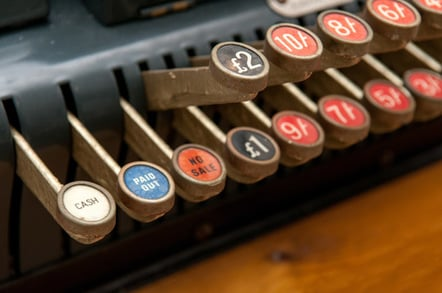 Old cash register photo via Shutterstock