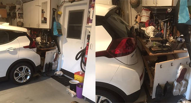 Chevy Bolt electric car came alive, reversed into my workbench, says stunned bloke • The Register