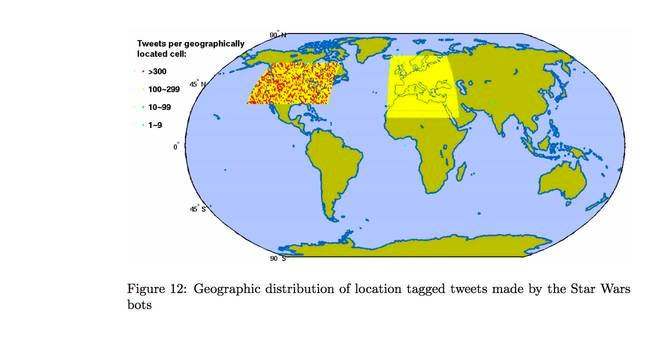 Map of Twitter bots
