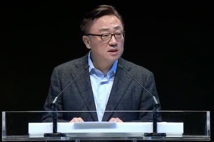 Samsung president of mobile communications DJ Koh