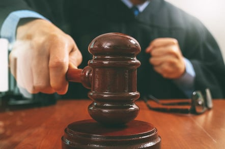 Judge gavel, photo via Shutterstock