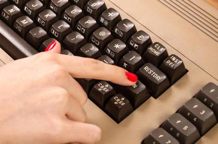retro 1980s commodore  keyboard