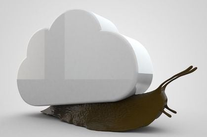 Cloud moving at a snail's pace