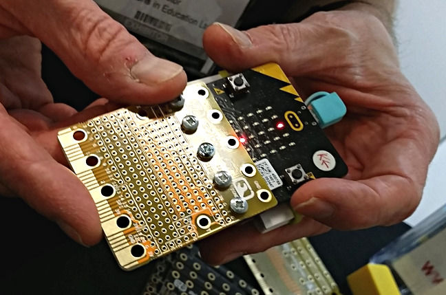 A zbit:microbit, designed by Nevil Hunt