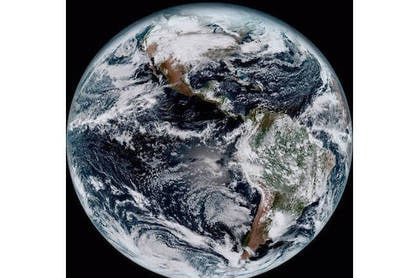 GOES-16 full-disk image of Earth