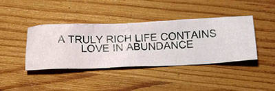 Fortune cookie motto