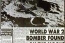 Bomber found on the moon newspaper cutting