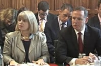 Harriett Baldwin MP and Tony Douglas, chief exec DE&S, Ministry of Defence