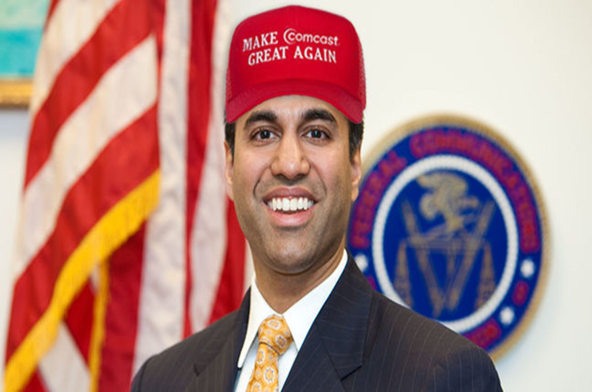 Roses are red, Ajit Pai is tickled. Broadband from SpaceX gets him out of a pickle