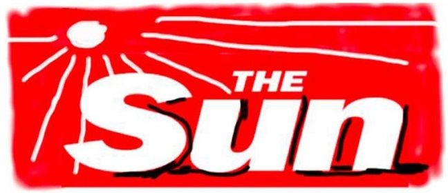 David Hockney's interpretation of The Sun's masthead