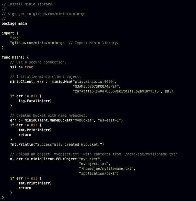 Minio_code_use_examples