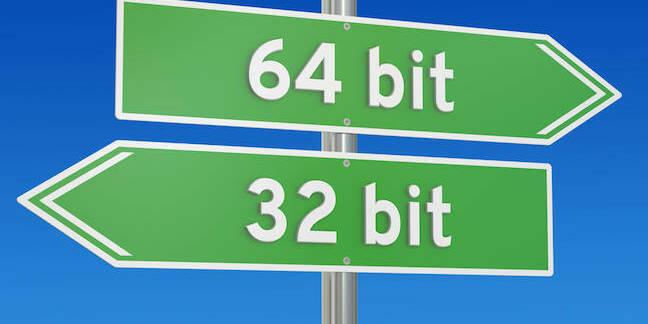 32-bit 64-bit street sign