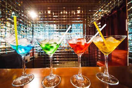 Drinks on a bar