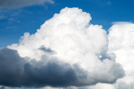 Big cloud photo via Shutterstock