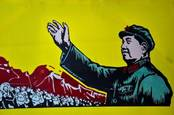Chairman Mao exhorting chinese workers to do their utmost for the nation