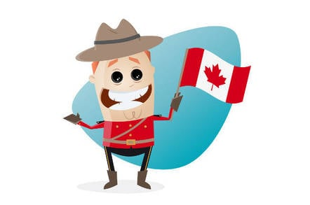 A cartoon mountie