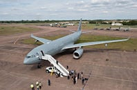 An RAF Airbus Voyager tanker-cum-troop transport aircraft. Pic: MoD/Crown copyright