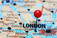 Slough and London on a map