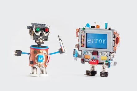 Small robots photo via Shutterstock