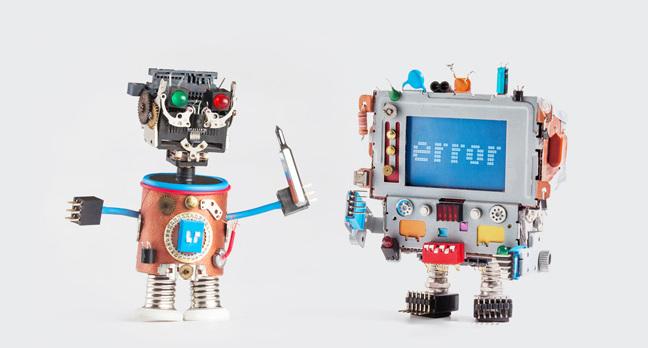 Small robots photo via Shutterstock