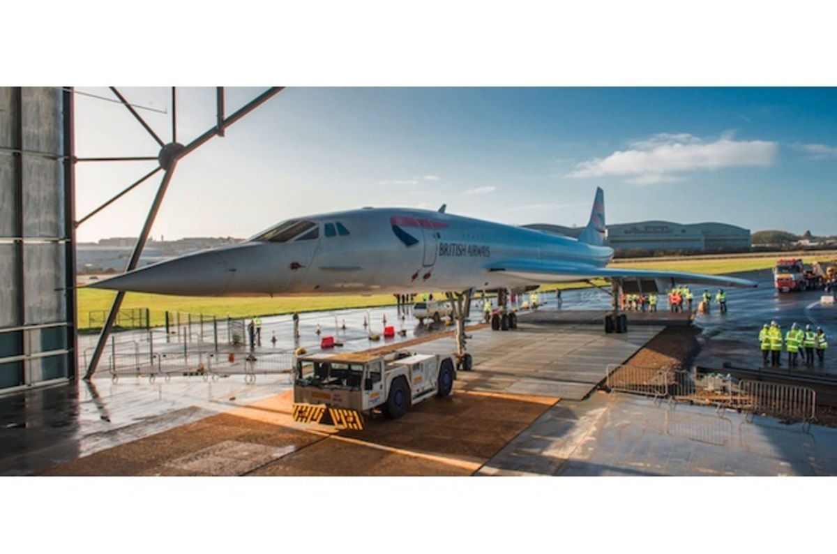 Last Concorde completes last journey, at maybe Mach 0.02 ... Aerospace Bristol