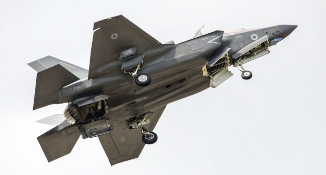 RAF F-35B ZM137, visiting the UK in 2016. Crown copyright