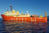 The Geo Resolution submarine cable survey ship