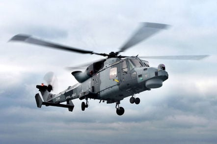 A Royal Navy Lynx Wildcat Helicopter Crown Copyright