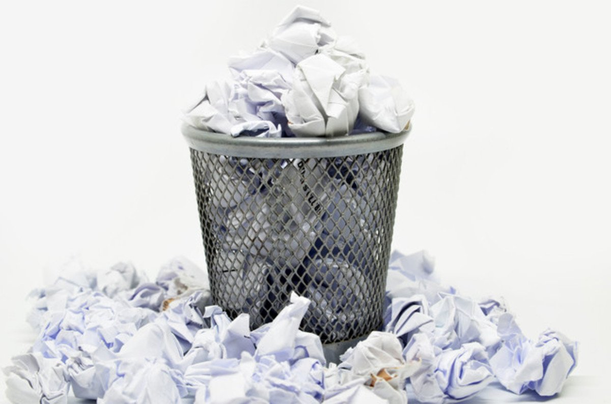 Image result for paper in garbage