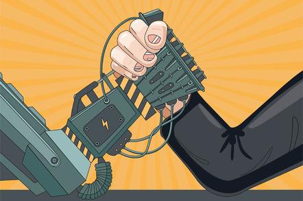 Arm wrestling photo via Shutterstock