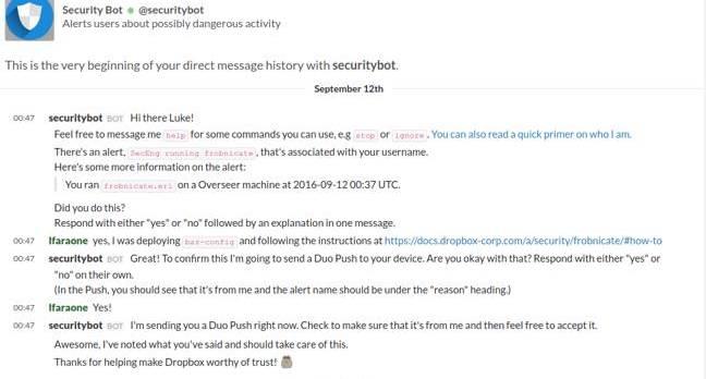 Dropbox's securitybot