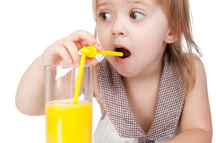 Girl drinking photo via Shutterstock