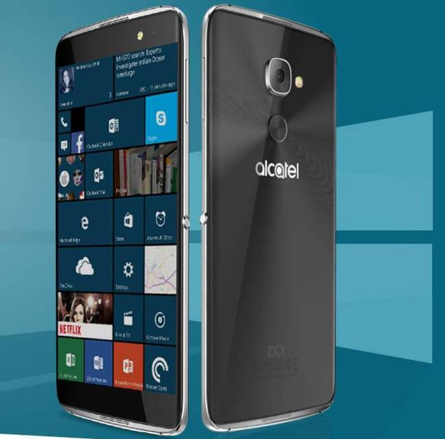 Alcatel's Idol 4, running Windows 10 Mobile