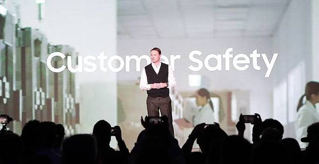 We're all about customer safety says Samsung