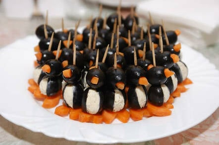 Linux penguin canape... snacks. Photo by SHutterstock